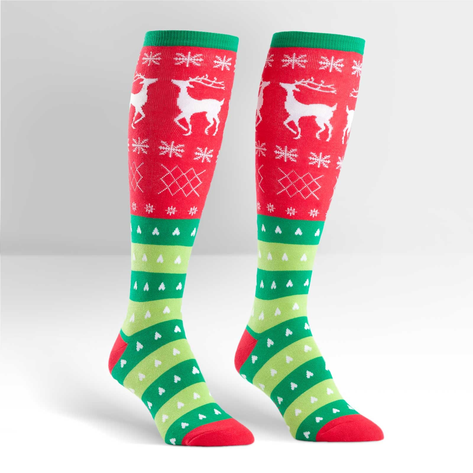 Women's Tacky Holiday Sweater Knee High