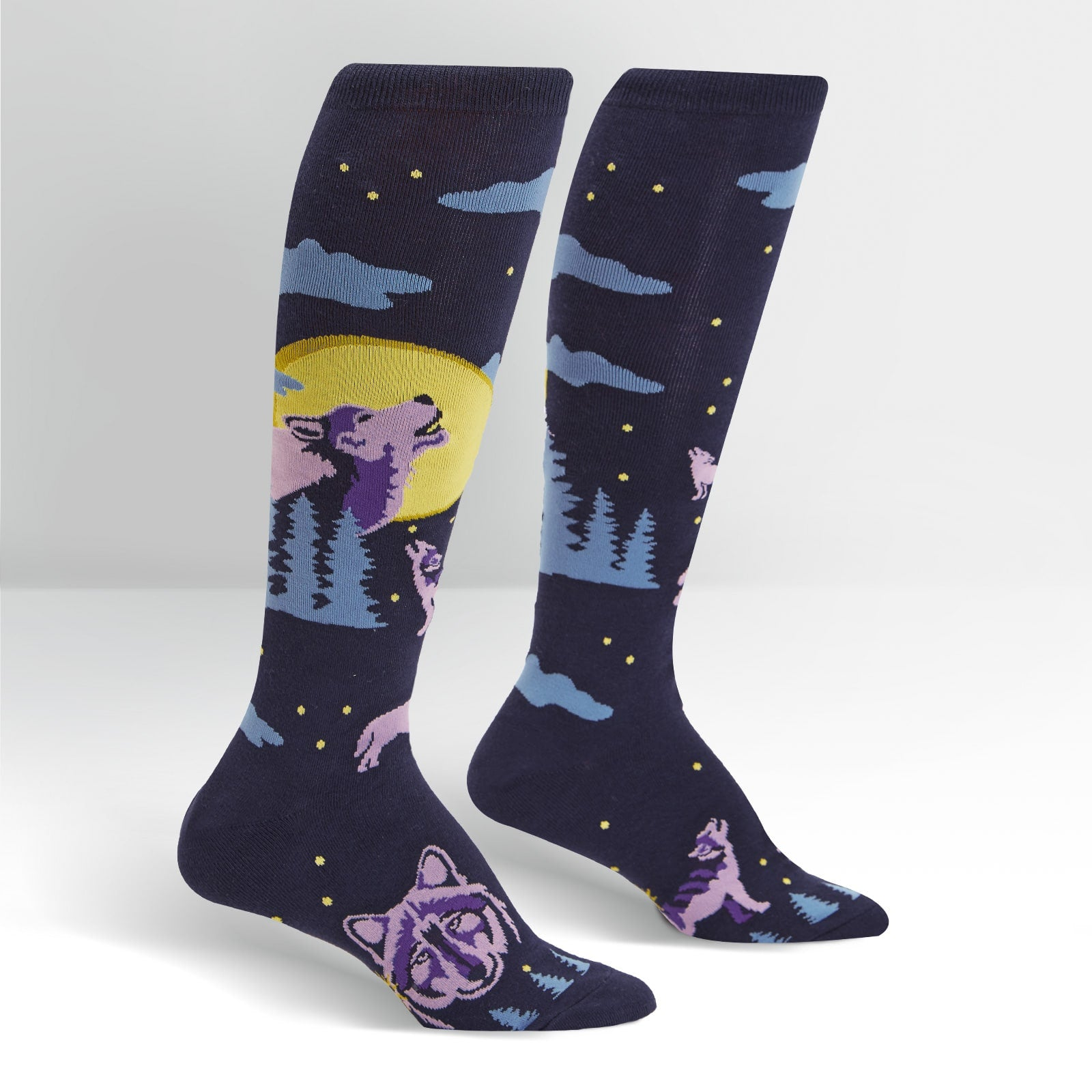 Women's 6 Wolf Moon Funky Knee High