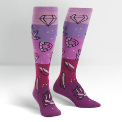 Women's Crystal Heel-ing Knee High