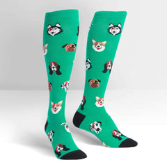 Women's Dogs Of Rock Stretch-It Knee High