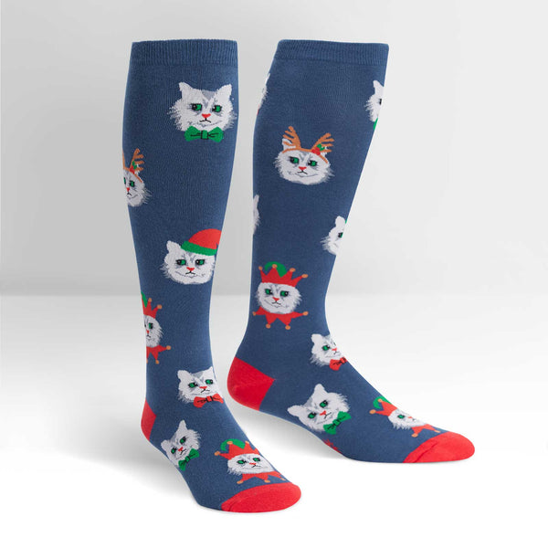 Women's Stretch-It Santa Claws Knee High