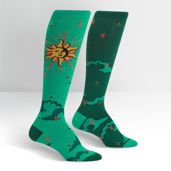 Women's Sun And Moon Knee High