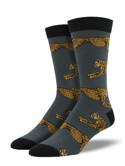 Men's Cheetah Bamboo Crew