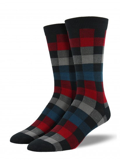 Men's Plaid Bamboo Crew