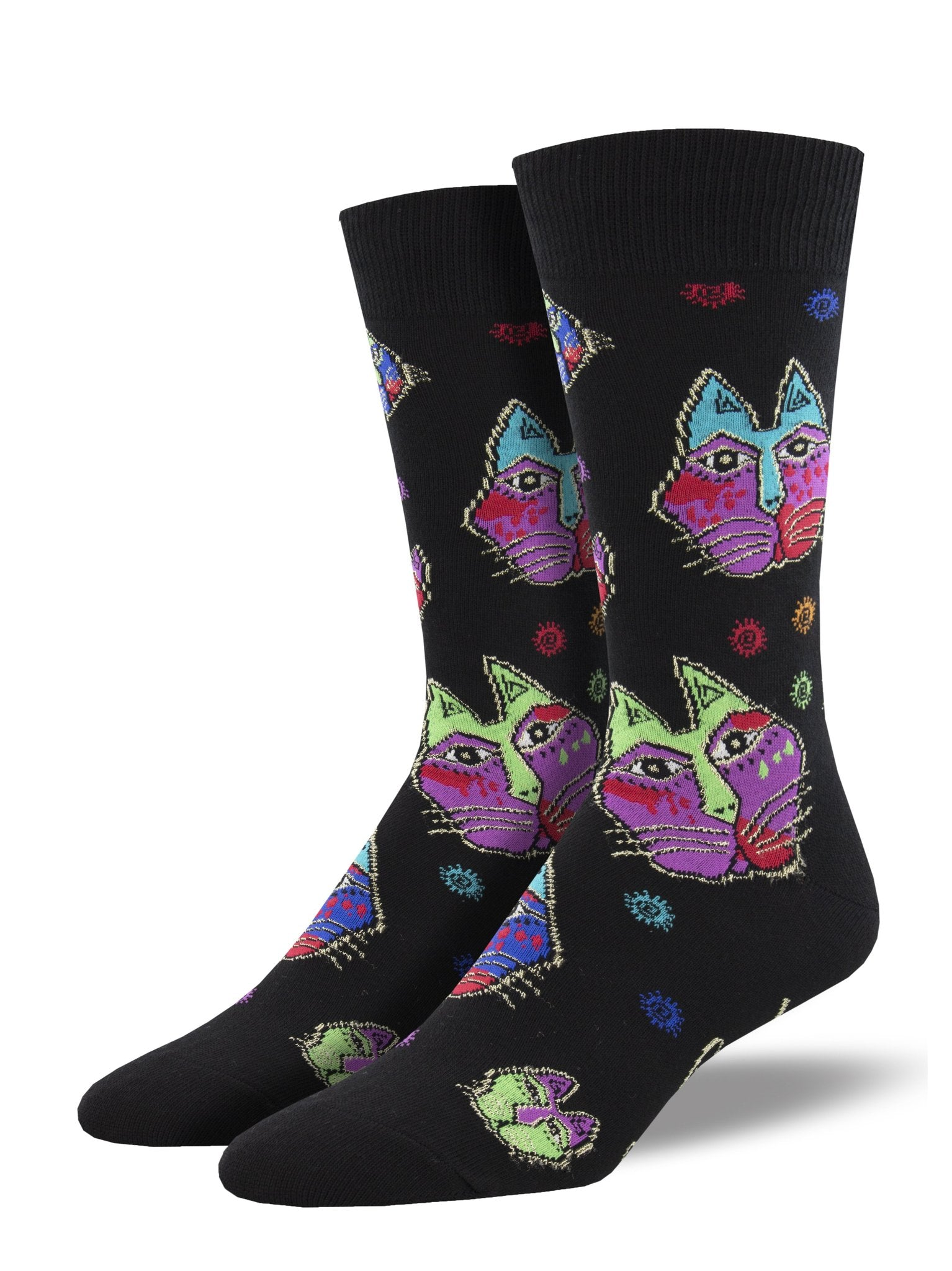Men's Laurel Burch Cat Heads Crew