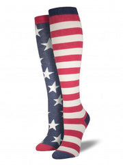 Women's American Flag Knee High