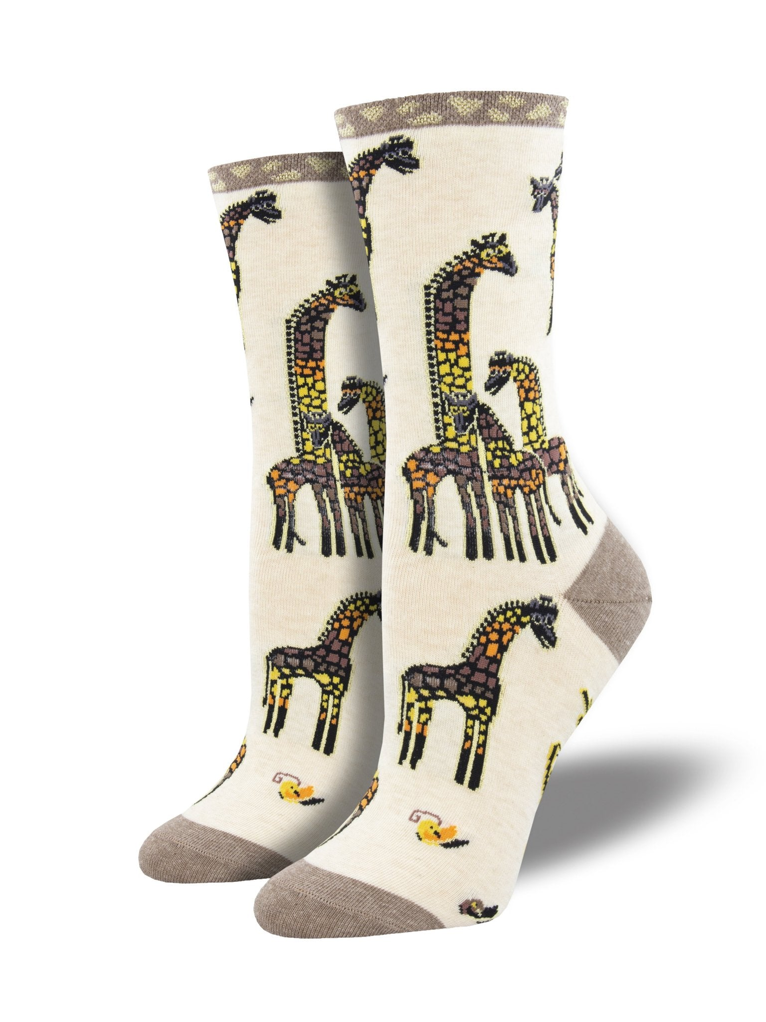 Women's Laurel Burch Giraffe Family Crew