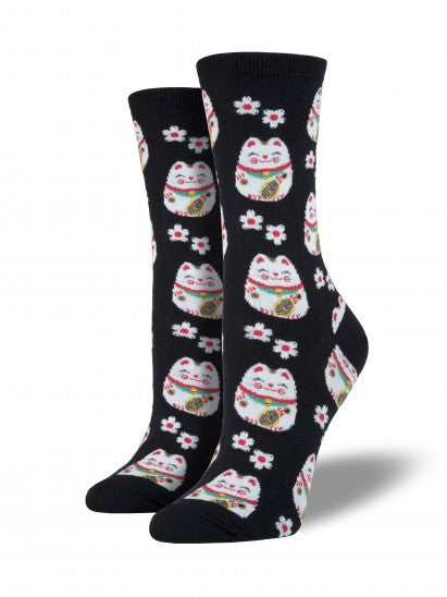 Women's Lucky Cat Crew
