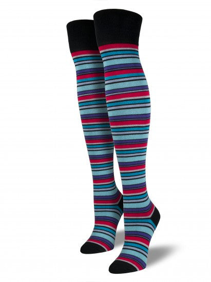 Women's Comfort Multi Stripe Over The Knee
