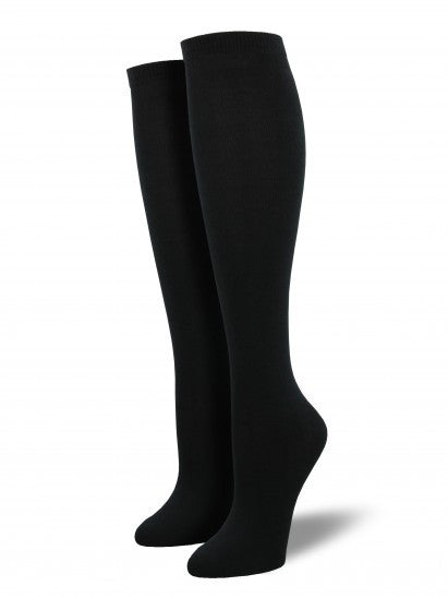 Women's Solid Knee High Bamboo
