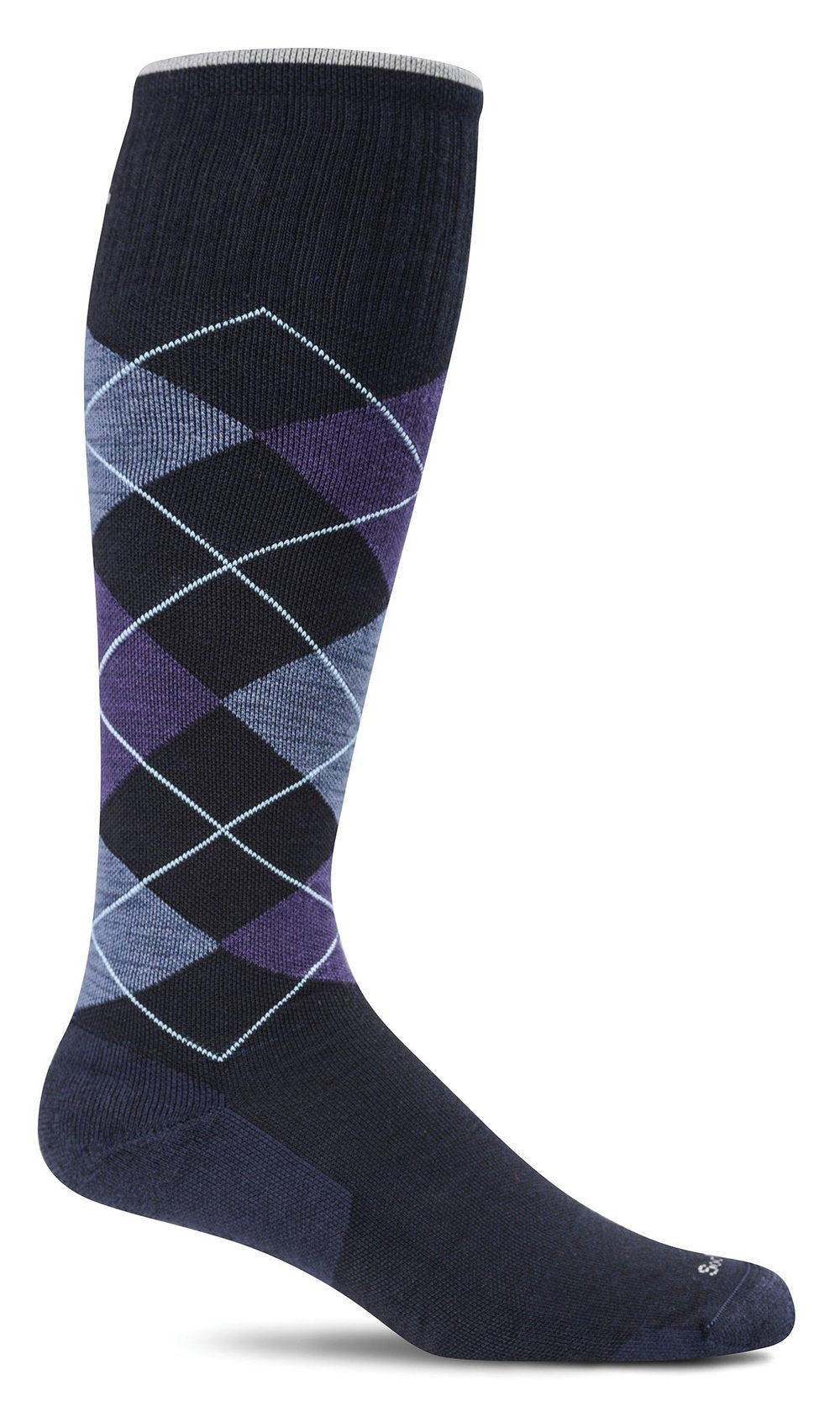 Men's Argyle Graduated Compression Knee High Socks