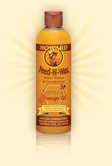 Feed n Wax Wood Polish and Conditioner. Howard Products. Orange Oil and Beeswax