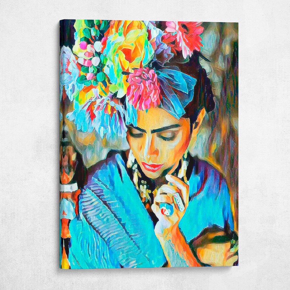 Colorful Frida Kahlo Portrait