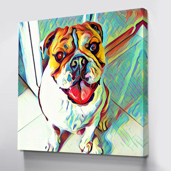 Oz The English Bulldog 12x12 Canvas