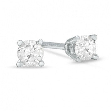0.20 CT. Diamond Studs in 14K White Gold