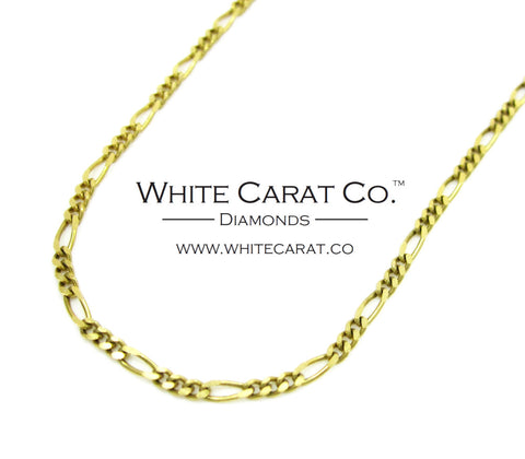 10K Solid Gold Figaro Chain - 1.5 mm