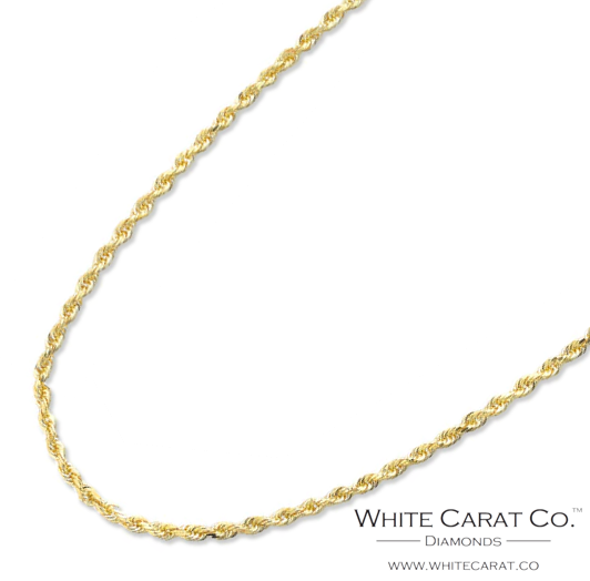 10K Gold Solid Rope Chain - 1.5 mm