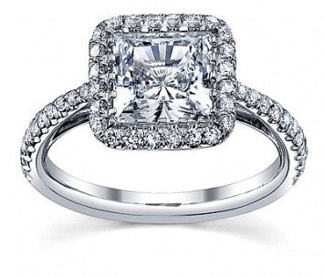1.25 CT. French Pave Diamond Ring in White Gold