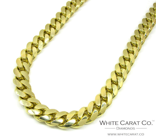 10K Gold Solid Miami Cuban Chain - 10.0 mm
