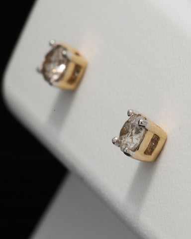 0.17 CT. Ladies' Diamond Studs in 10K Gold