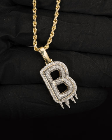 "0.37 CT. Letter ""B"" Diamond Pendant in 10K Gold"