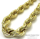10K Gold Rope Chain - 14.0 mm