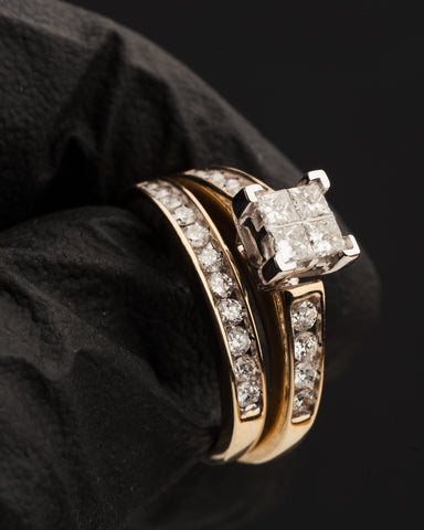 1.00 CT. Diamond Engagement Ring Set in 10K Gold
