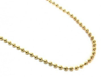 14K Gold Bead Chain - 3.0 mm