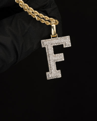 "0.28 CT. Letter ""F"" Diamond Pendant in 10K Gold"