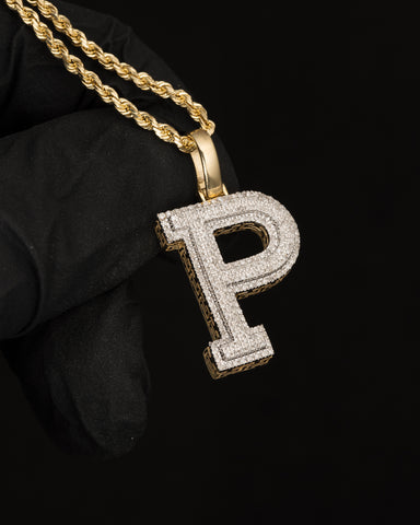 "0.43 CT. Letter ""P"" Diamond Pendant in 10K Gold"