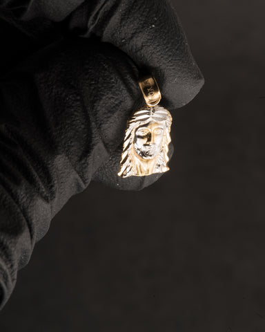 Jesus Face Pendant in 10K Gold