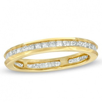 1.00 CT. Diamond Channel Set Band in Yellow Gold