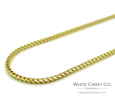 10K Gold Solid Franco Chain - 1.1 mm