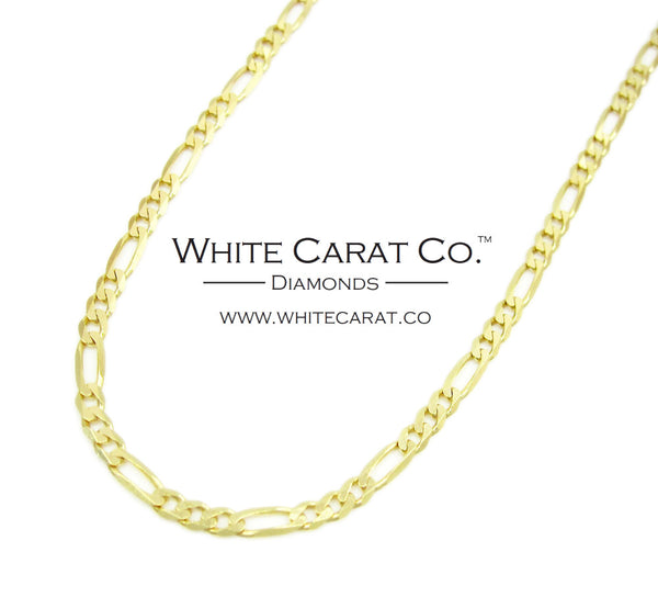 10K Solid Gold Figaro Chain - 2.0 mm