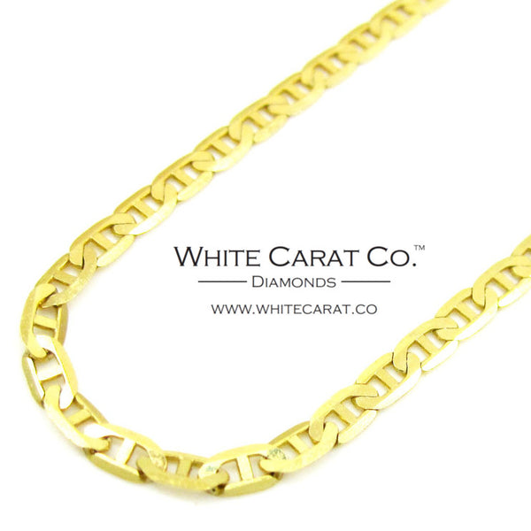 10K Solid Gold Mariner Link Chain - 2.0 mm