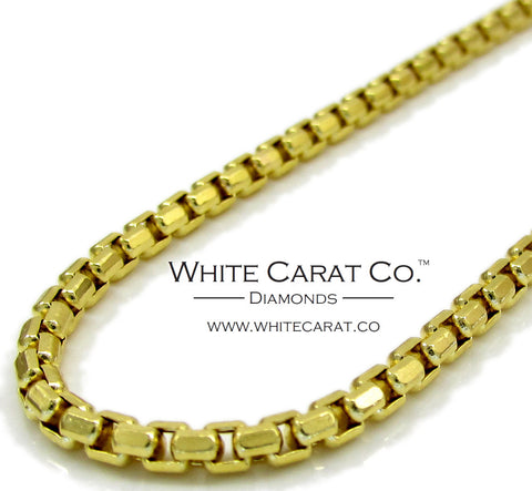 10K Gold Hexagon Link Box Chain - 2.5 mm