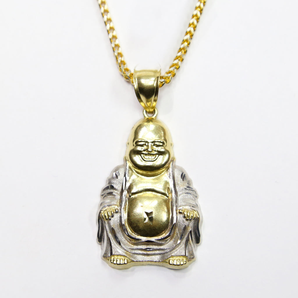 Combo 10k gold buddha pendant 26 inch 10k gold franco chain combo 10k gold buddha pendant 26 inch 10k gold franco chain white carat co mozeypictures Images