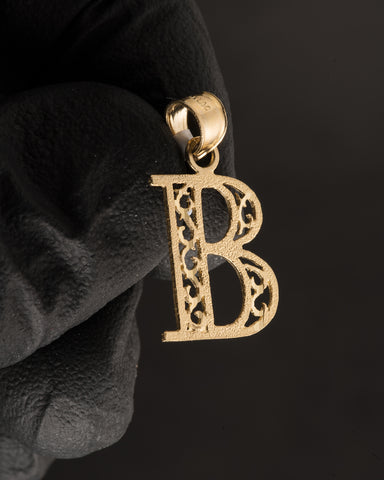 "Letter ""B"" Pendant in 10K Gold"
