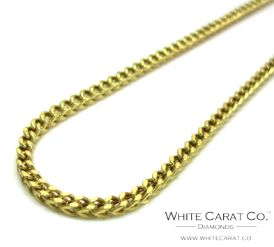 10K Gold Semi-Solid Franco Chain - 1.0 mm