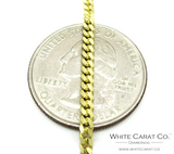 10K Gold Solid Miami Cuban Chain - 2.5 mm