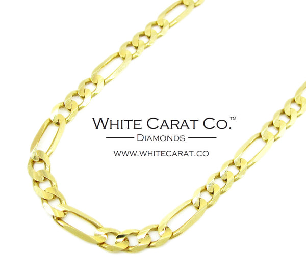 10K Solid Gold Figaro Chain - 3.5 mm