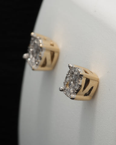 0.15 CT. Ladies' Diamond Studs in 10K Gold