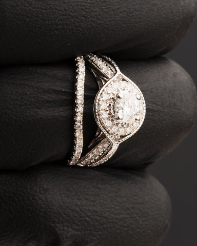 1.00 CT. Diamond Engagement Ring Set in 14K Gold