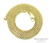 10K Gold Semi-Solid Franco Chain - 3.0 mm