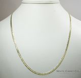 10K Gold Solid Cuban Link Chain - 3.0 mm