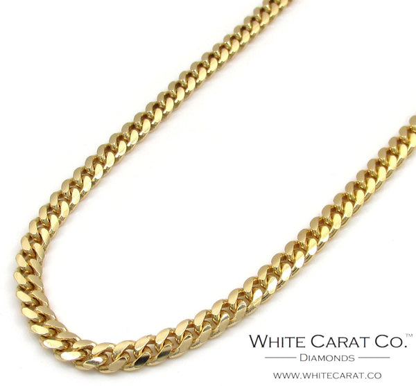 10K Gold Solid Miami Cuban Chain - 3.0 mm