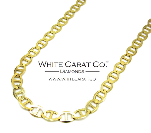 10K Solid Gold Mariner Link Chain - 4.5 mm