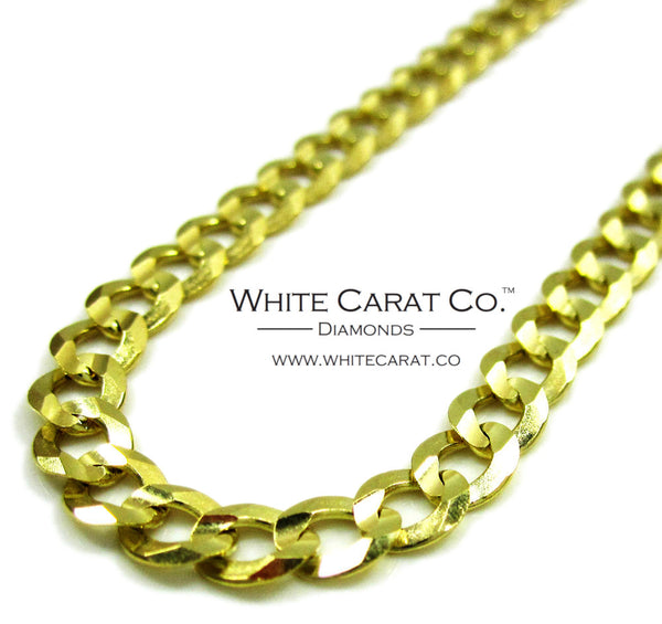 10K Gold Solid Cuban Link Chain - 5.0 mm
