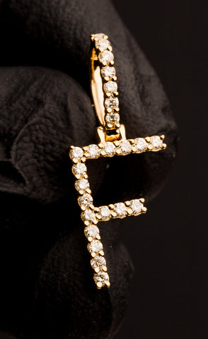 "0.36 CT. Letter ""F"" Diamond Pendant in 10K Gold"
