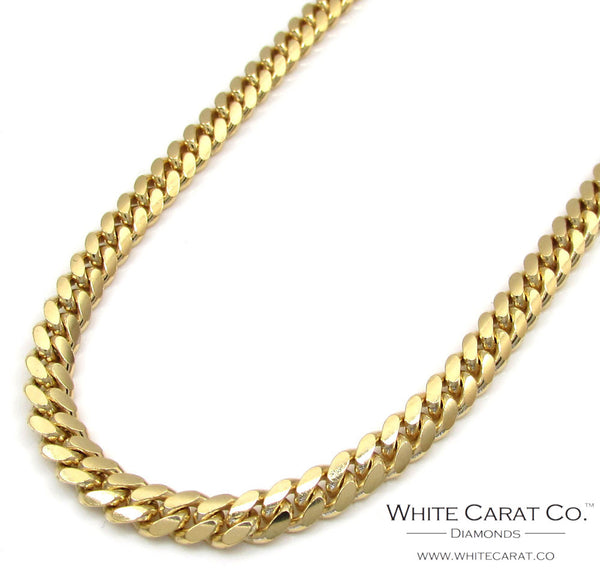 10K Gold Semi-Solid Miami Cuban Chain - 4.0 mm
